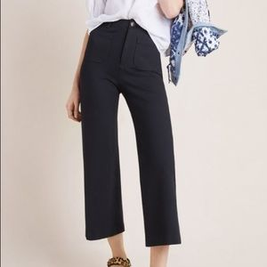 Anthropologie Courtney Cropped Wide Leg Pants
